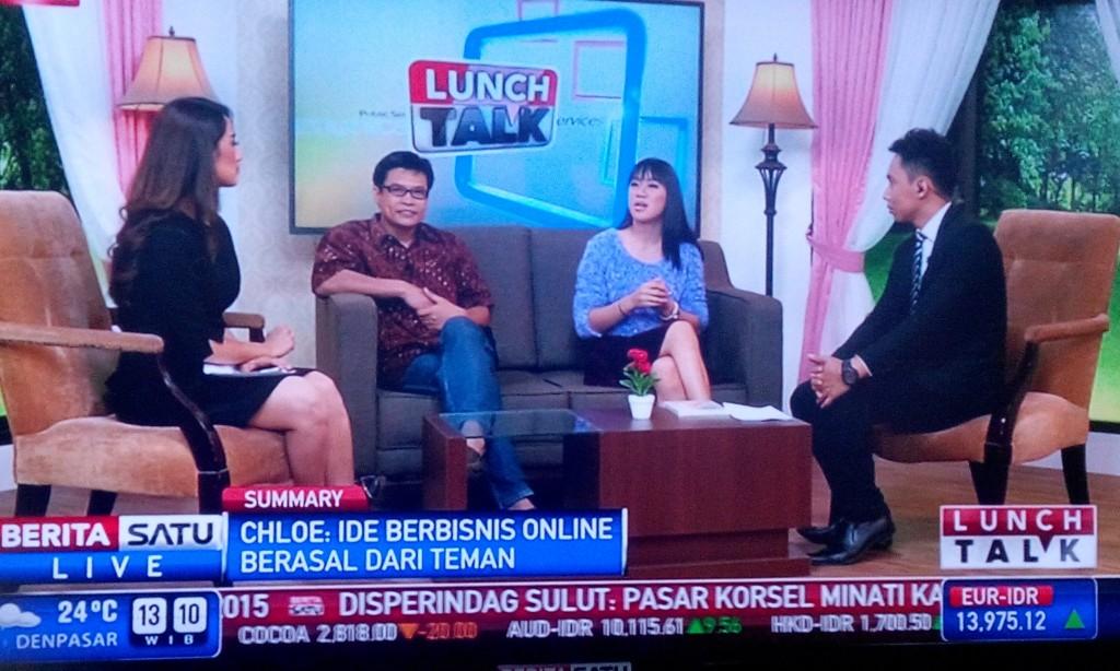 Talk show Berita Satu - Chloe Purnama