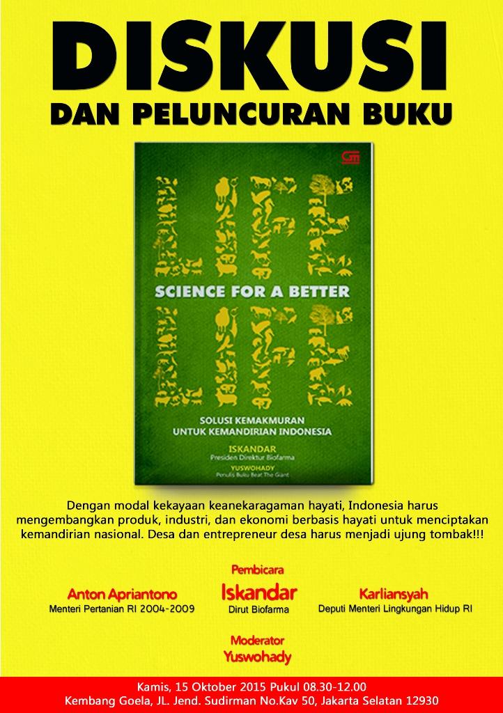 Poster Diskusi & Peluncuran Buku Bio Farma