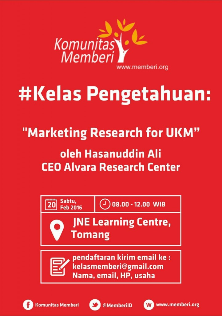 Banner Kelas Inspirasi Marketing Research for UKM, Feb 2016