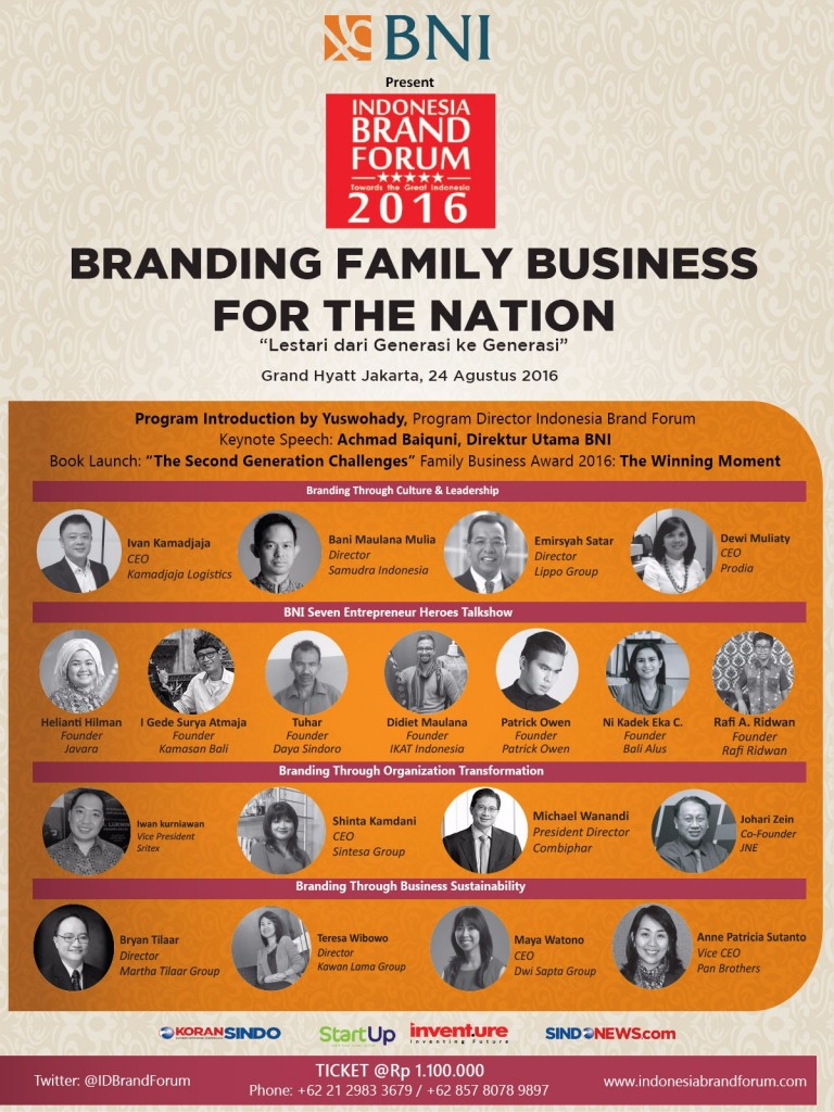 "Road to #IBF2016: ""Family Business for the Nation"""